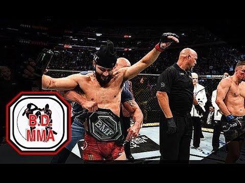 Jorge Masvidal vs Nate Diaz inside the UFC Octagon UFC 244.
