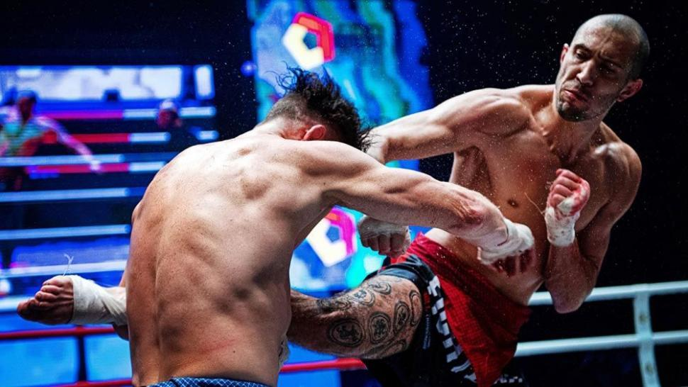 Lethwei world champion David Leduc fighting.