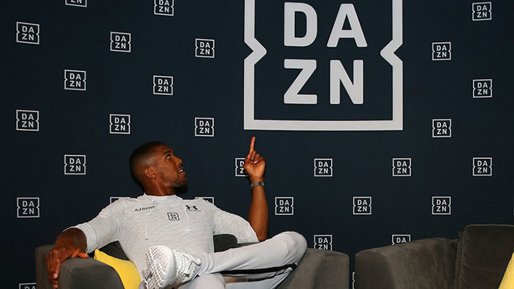 Heavyweight boxer Anthony Joshua at DAZN headquarters.