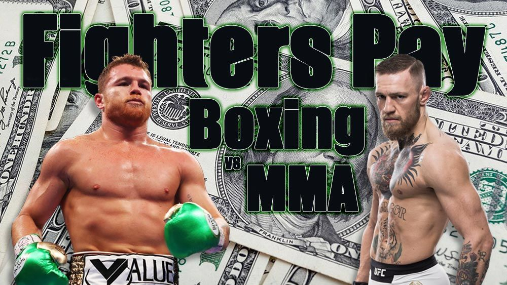 MMA vs boxing pay out image with Cancelo Alvarez and Conor McGregor.
