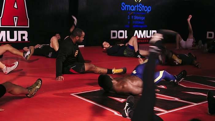 American kickboxing academy open mat training.
