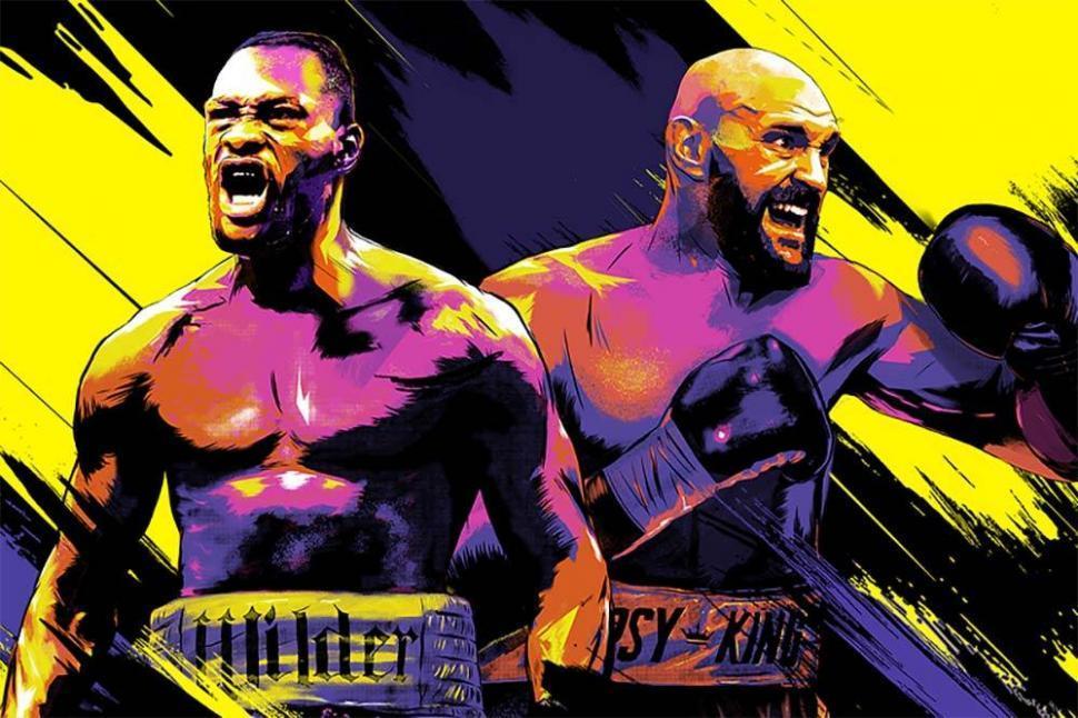 Deontay Wilder vs Tyson Fury 2 fight poster.