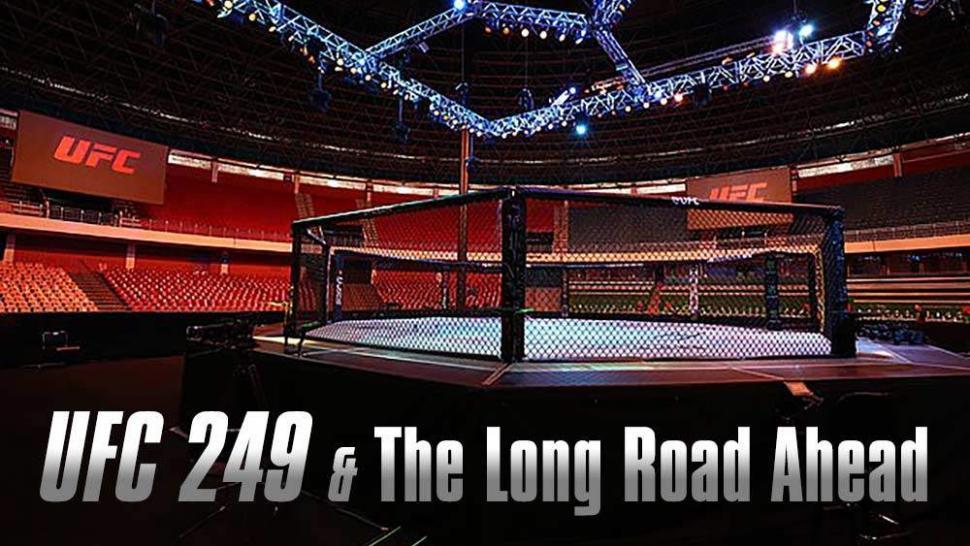 Ufc 249 Fight Card In Empty Stadium Arena.