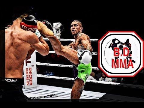 'Po Atan' Alex Pereira competes in Glory kickboxing.