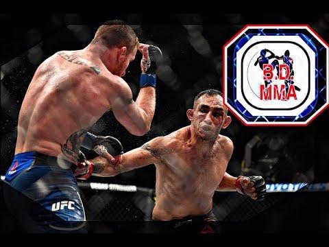 Justin Gaethje and Tony ferguson slugging it out UFC 249.