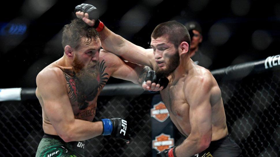 Conor Mcgregor Vs Khabib Nurmagomedov Exchange Punches At Ufc 229.
