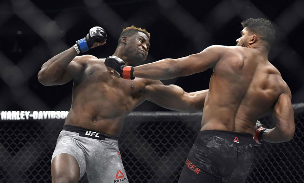 Francis Ngannou vs Alistair Overeem UFC 218 main event.