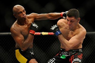 Anderson Silva against Nick Diaz UFC 183.