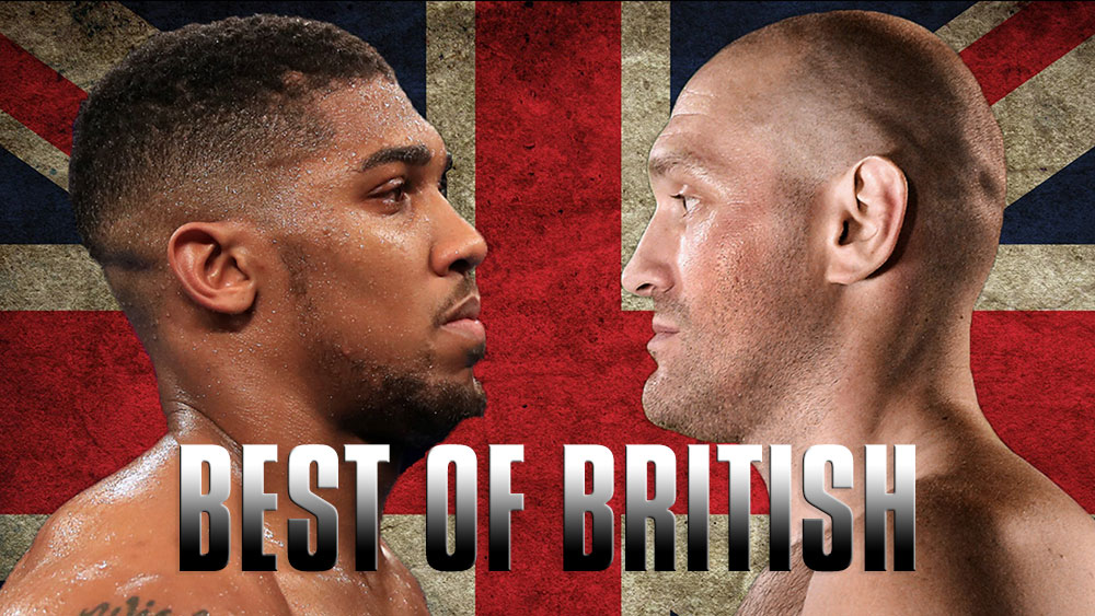 Anthony Joshua and Tyson Fury facing off.