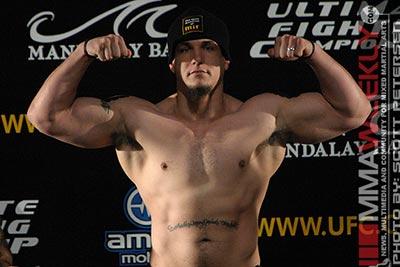UFC heavyweight Frank Mir jacked at weigh-ins.