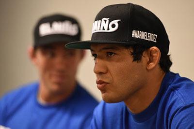 Gilbert Melendez being interviewed pre fight.