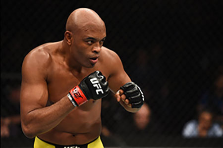 Anderson Silva Competing In The Ufc At Middleweight.
