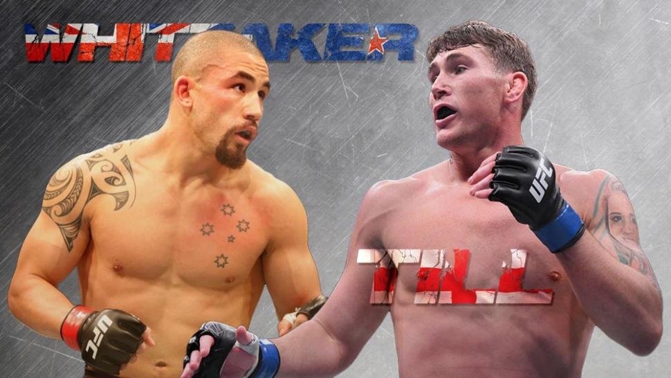 Robert Whittaker and Darren Till fight poster.