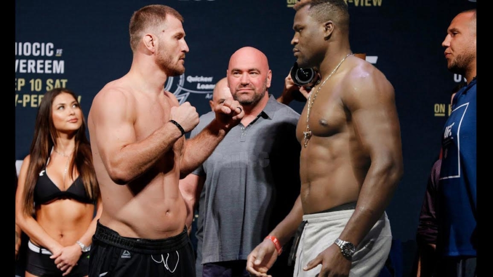 Ufc 220 Weigh-In Stipe Miocic Vs Francis Ngannou.
