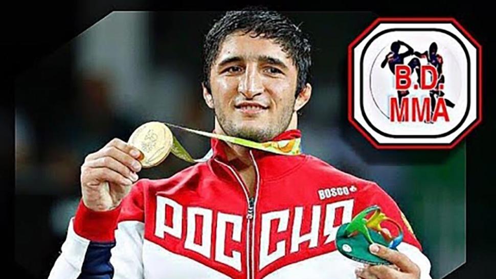 Abdulrashid Sadulaev on the mats training.