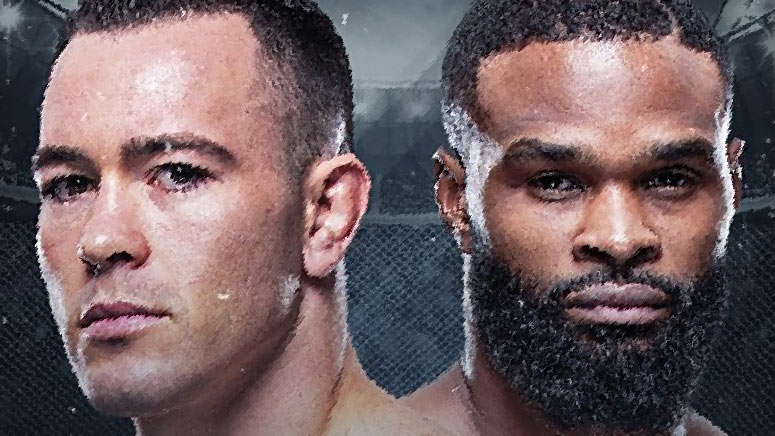 Colby Covington And Tyron Woodley Ufc Fight Night.