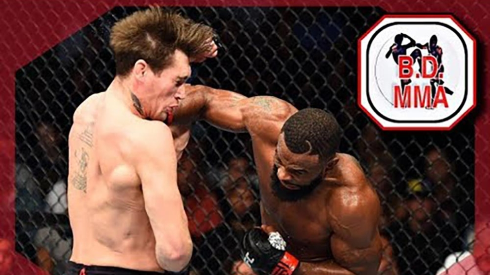 Tyron Woodley Hits Darren Till With A Huge Right Hand.