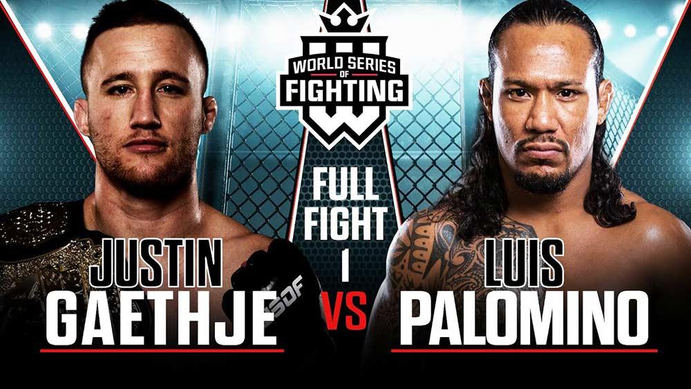 Justin Gaethje against Luis Palamino WSOF.