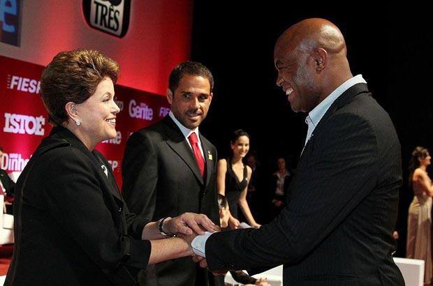 Anderson Silva with Brazilian President